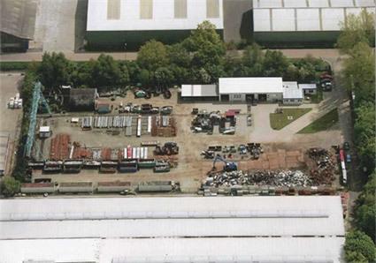 Luftbildaufnahme Firmengelände Wittrock & Diehl Gmbh Schrott- und Metallhandel